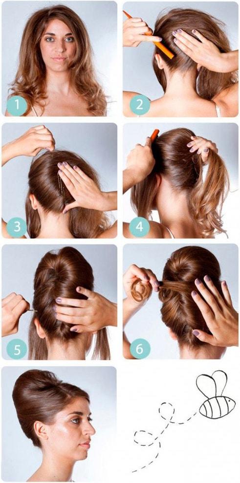 Как сделать ракушку из волос в домашних 728