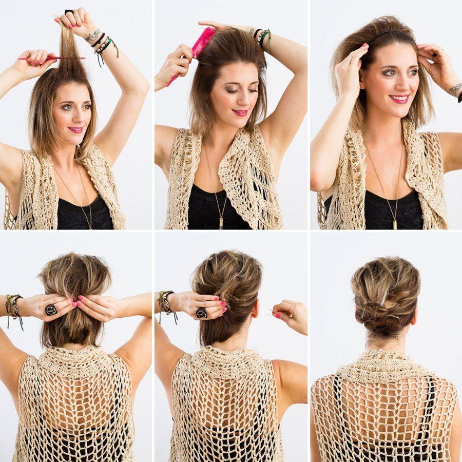 Как правильно сделать начес на средние волосы фото 350