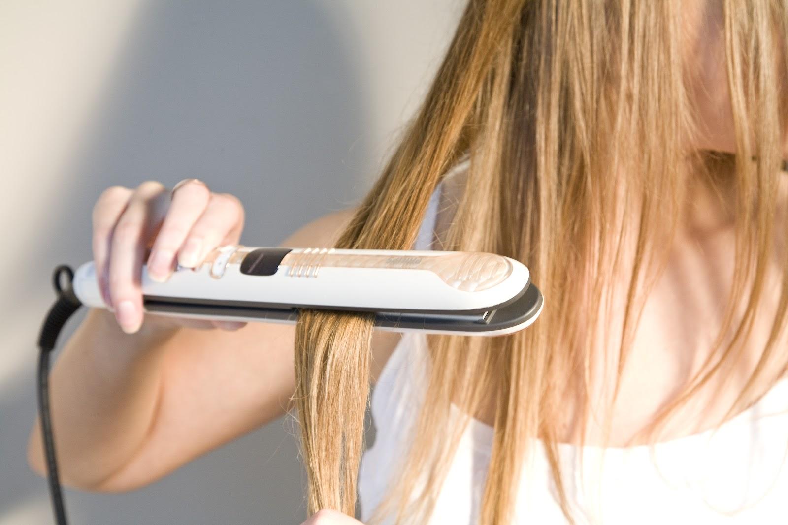 Как правильно выпрямить волосы утюжком?