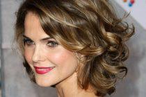 На коротких волосах завитки смотрятся также выигрышно, как и на длинных
