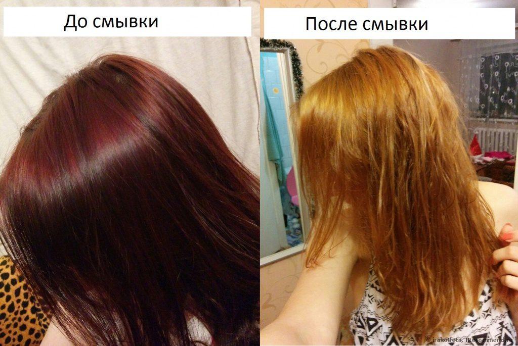 Окрасить волосы после смывки