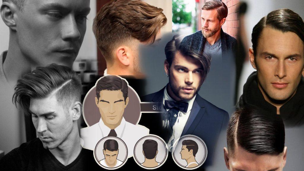 Мужские стрижки с пробором на бок фото