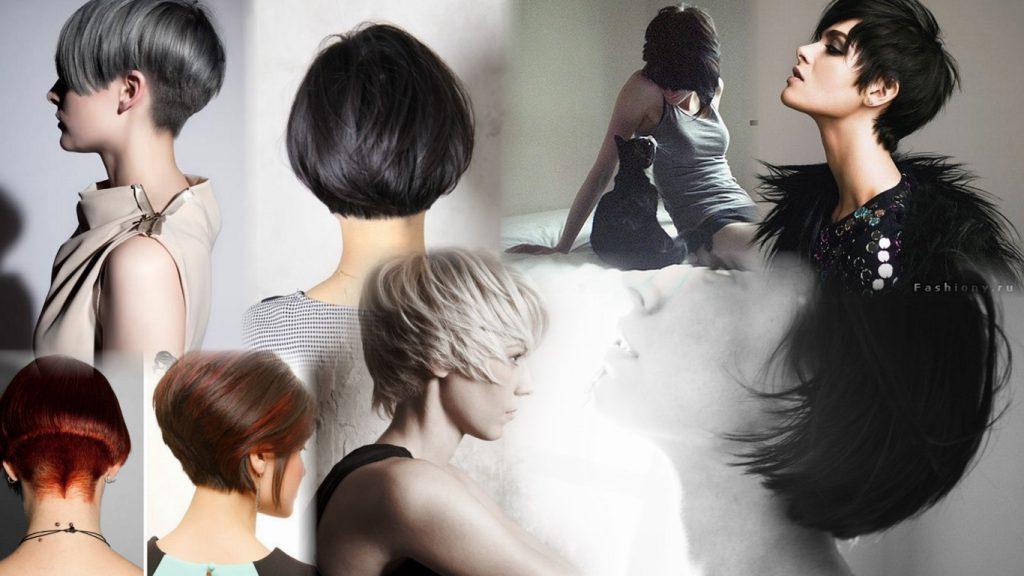 Фото девушек сзади с короткой стрижкой