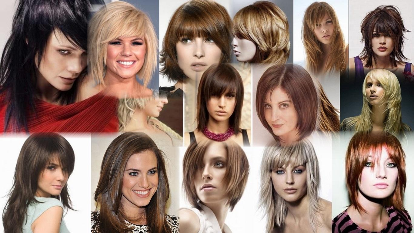 Градуированная стрижка на средние волосы фото