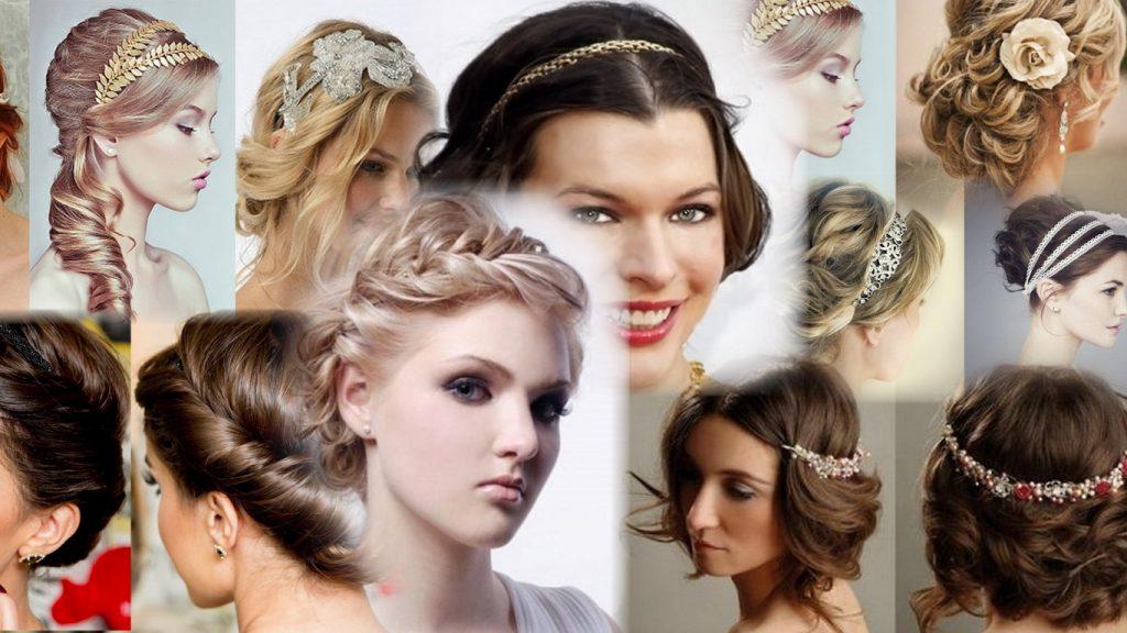 Греческая прическа на короткие волосы фото