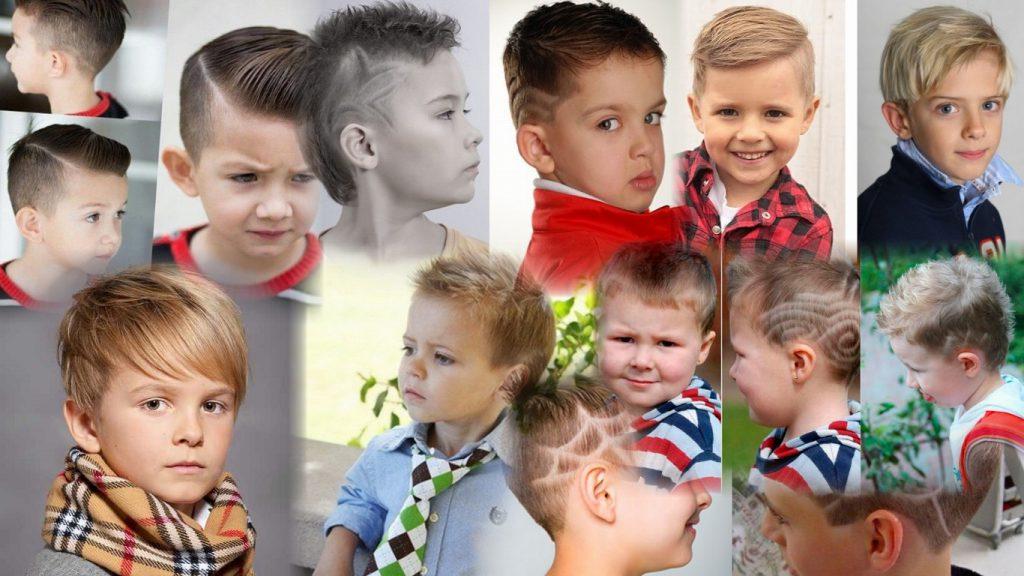 Детские модельные стрижки для мальчиков фото