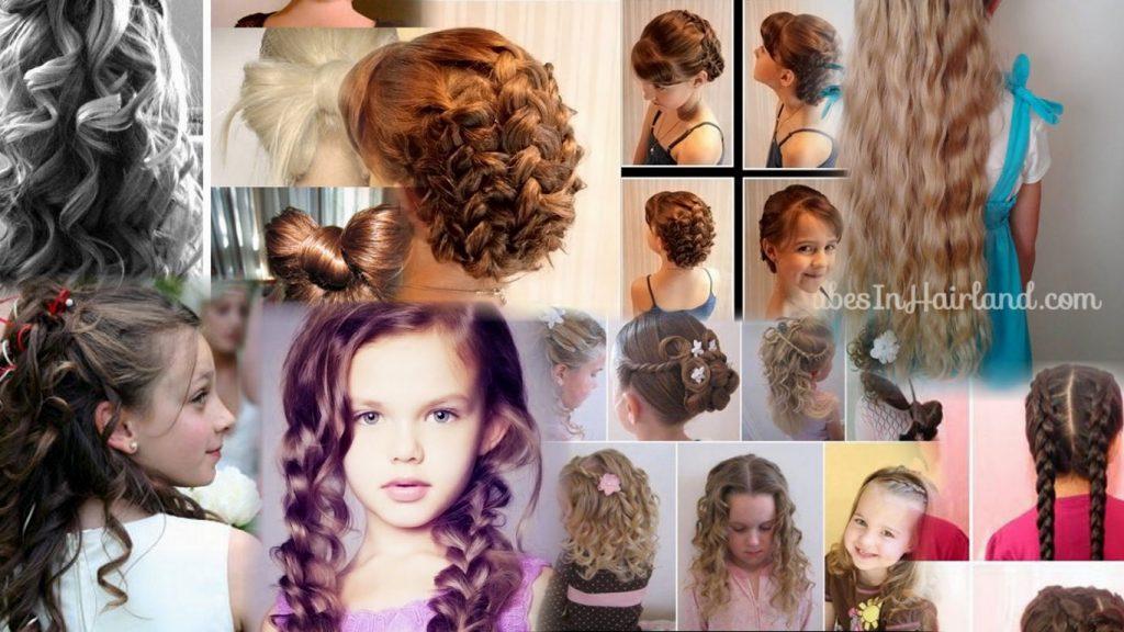 Детские прически на длинные волосы фото