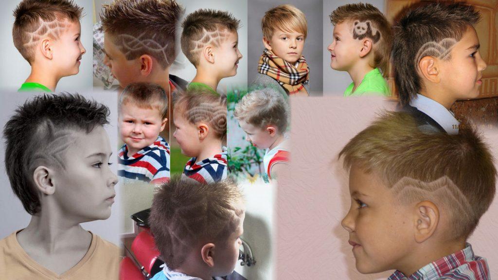 Детские стрижки для мальчиков с узорами фото