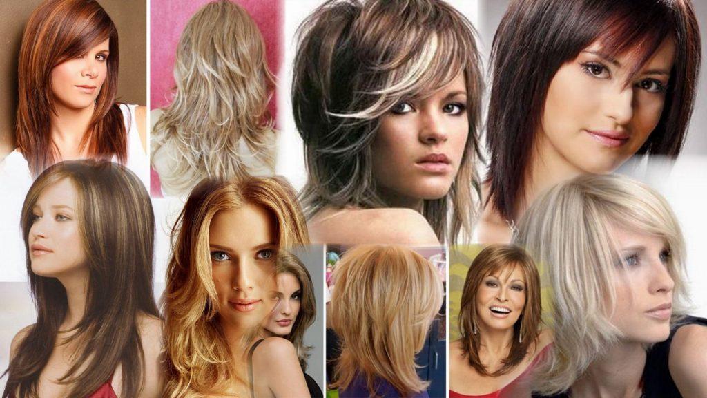 Женская стрижка каскад на средние волосы фото