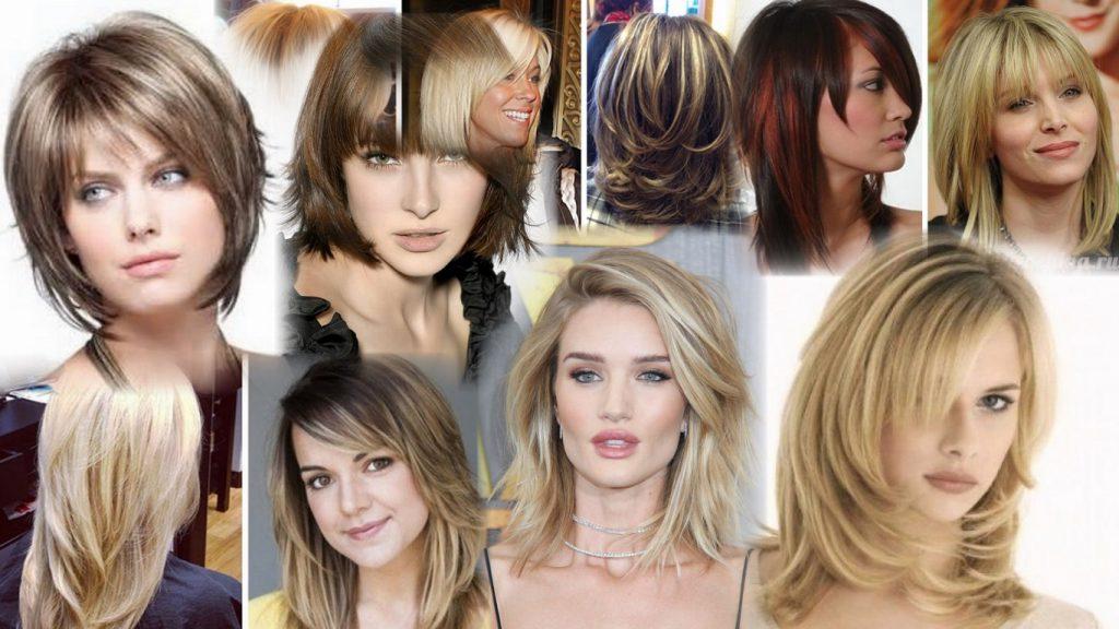 Каскадная стрижка на средние волосы фото