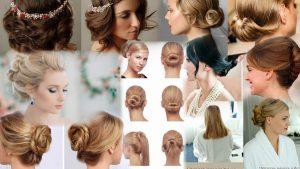 Классические прически на средние волосы фото