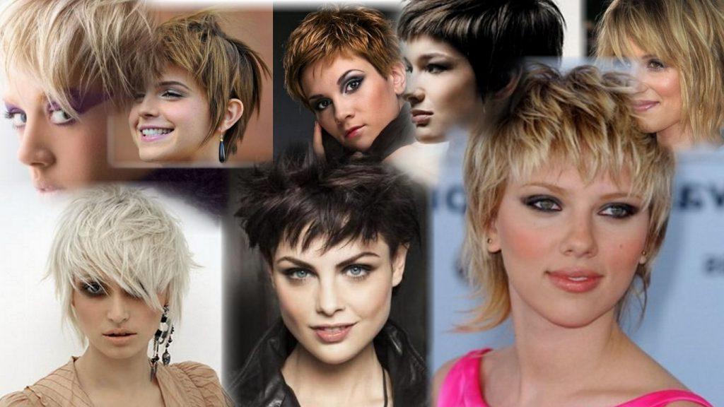 Короткие рваные стрижки женские фото