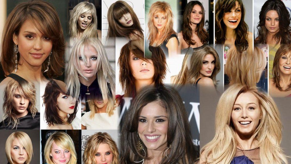 Многослойная стрижка на средние волосы фото