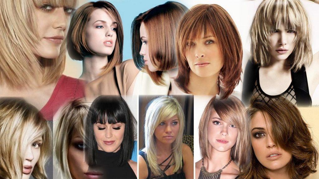 Модные стрижки на среднюю длину волос фото