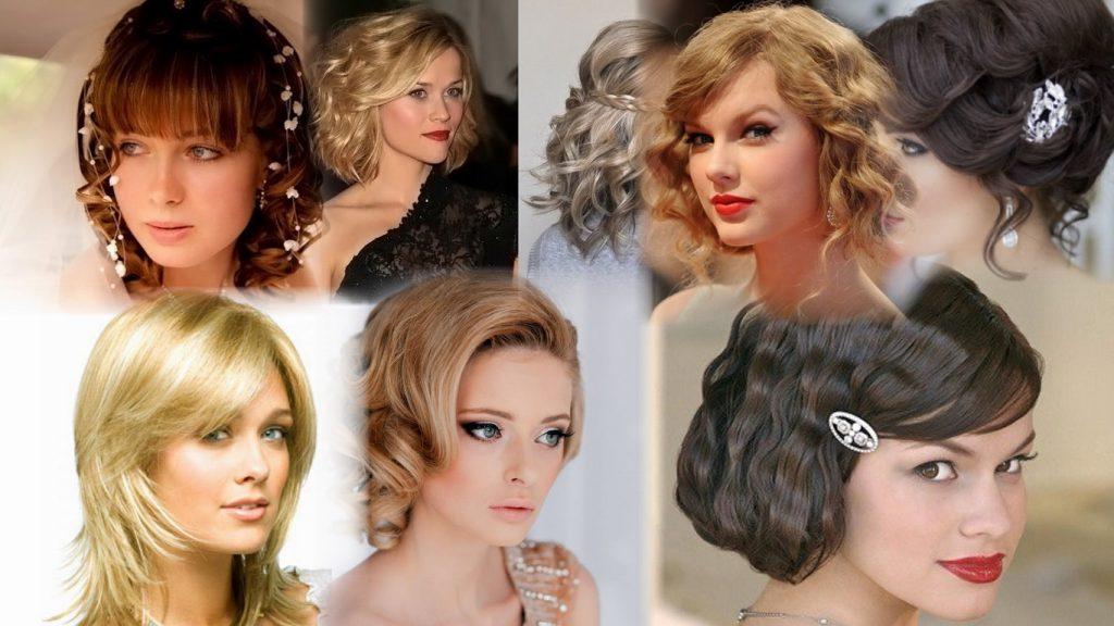 Прическа на короткие волосы  с челкой фото