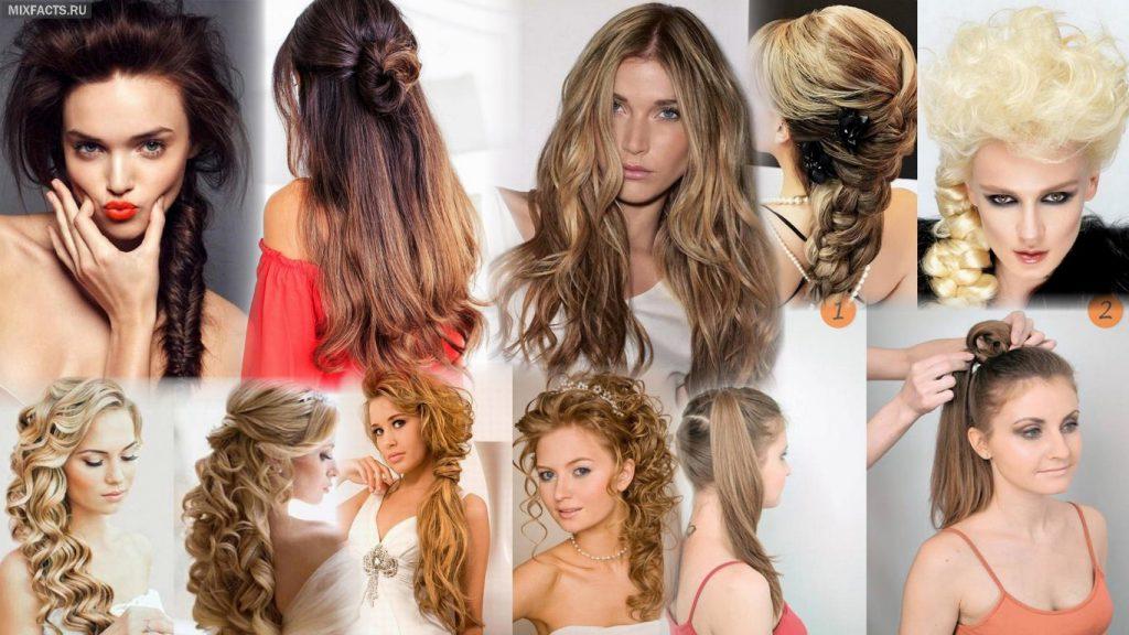 Прически длинные волосы фото