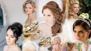 Прически для невесты на средние волосы фото