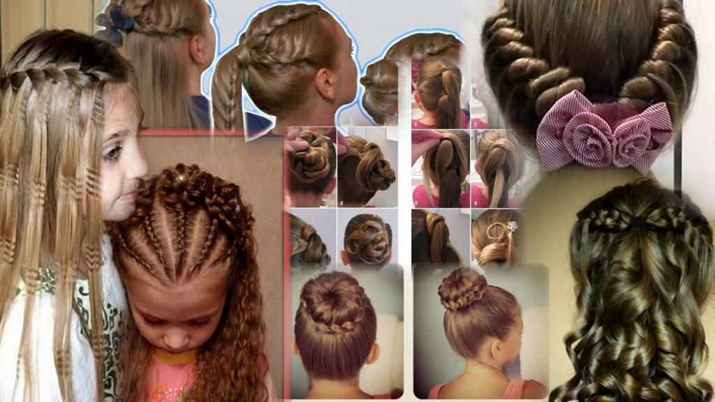 Прически на длинные волосы для девочек фото