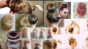 Прически с бубликом на средние волосы фото