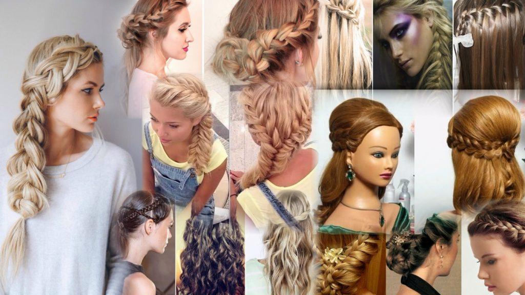 Прически с косичками на длинные волосы фото