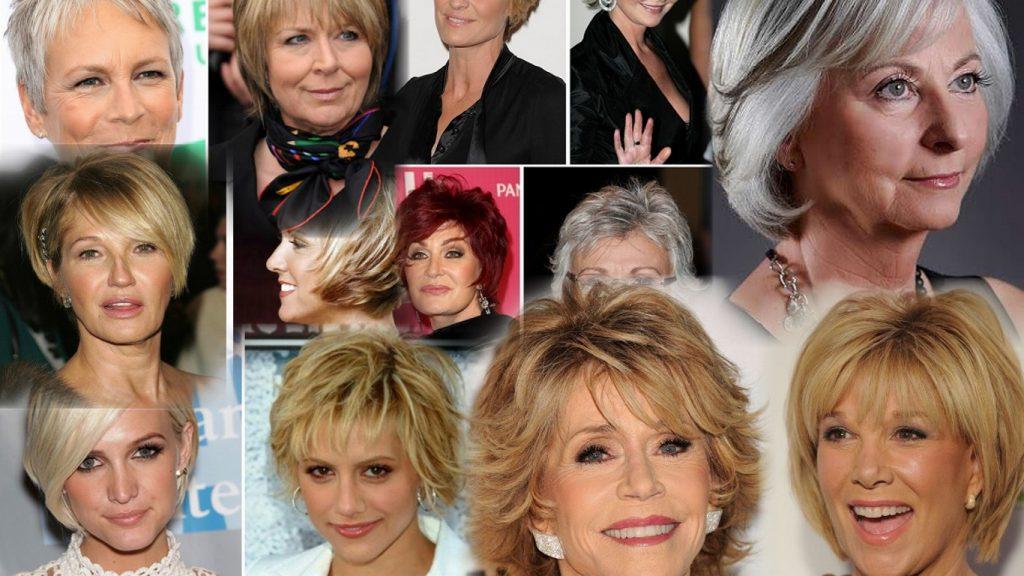 Современные стрижки для женщин 50 лет фото