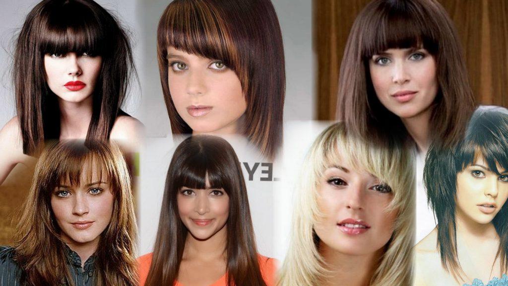 Стрижек на средние волосы с челкой фото