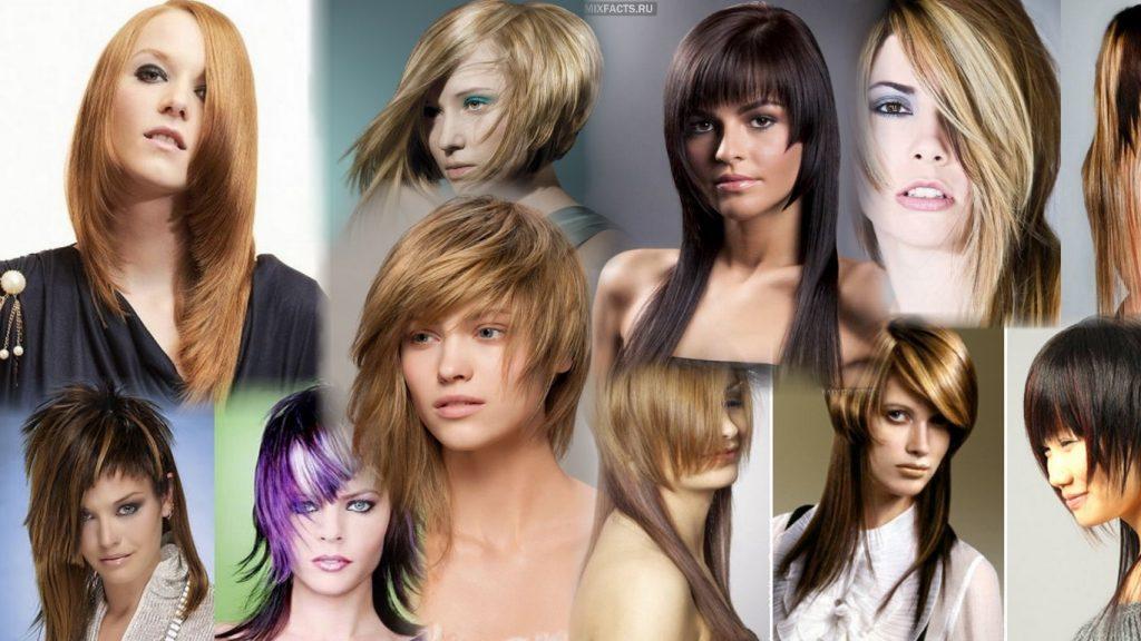 Стрижка асимметрия на длинные волосы фото