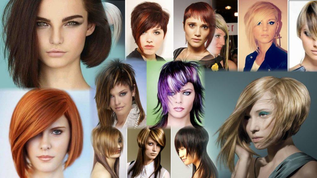 Стрижка асимметрия на средние волосы фото