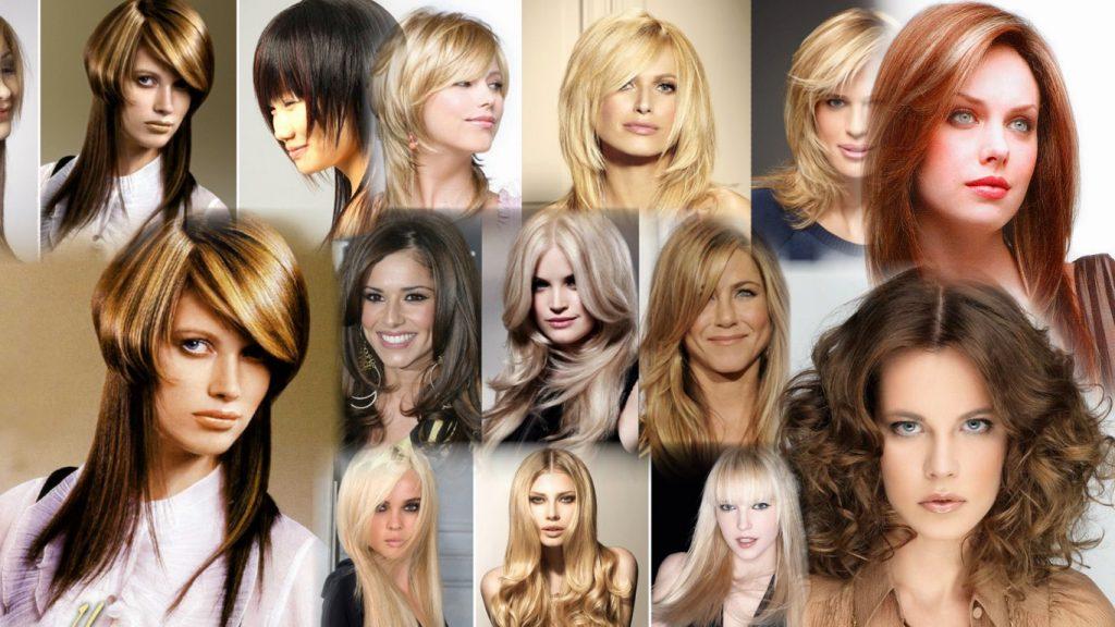 Стрижка две длины на средние волосы фото