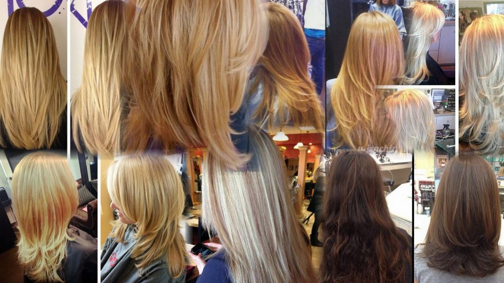 Стрижка слоями на длинные волосы фото