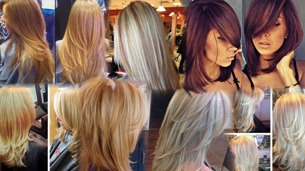 Стрижка слоями на средние волосы фото
