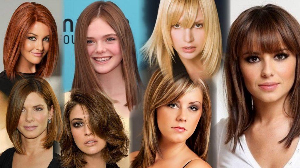 Стрижки волос средней длины фото