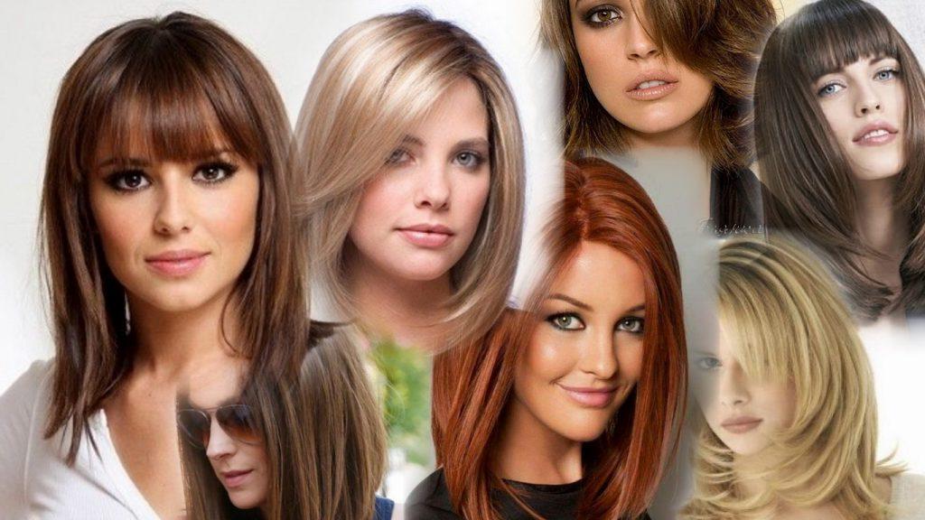 Стрижки на волосы средней длины фото
