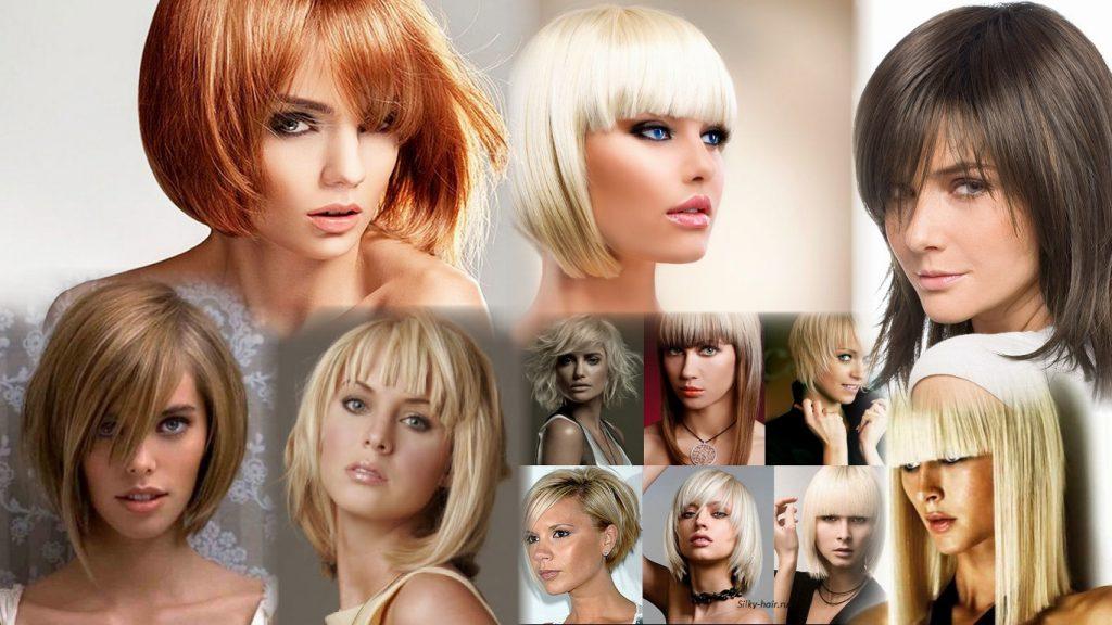 Стрижки на жидкие волосы с челкой фото